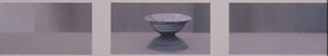 pastel triptych of single bowl